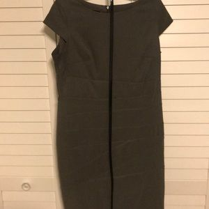 Army green fitted dress